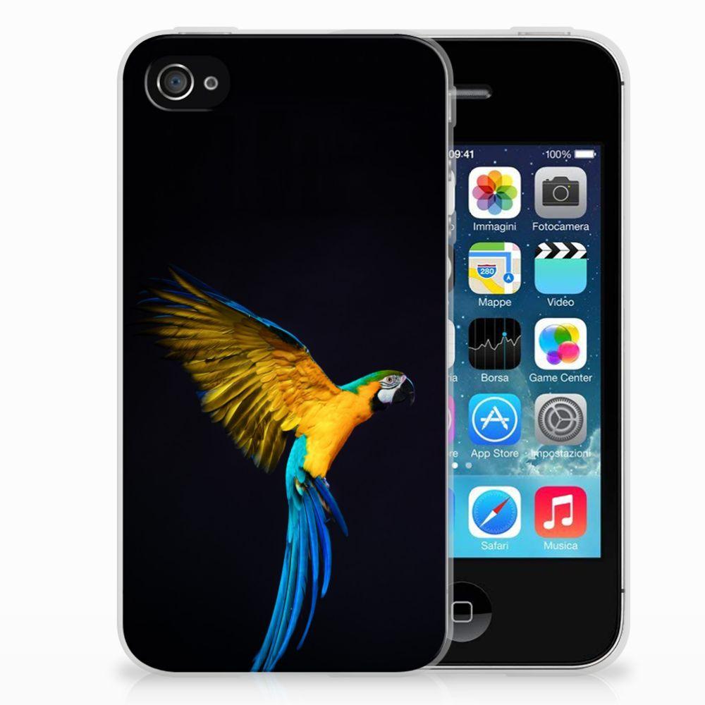 Apple iPhone 4 | 4s TPU Hoesje Papegaai