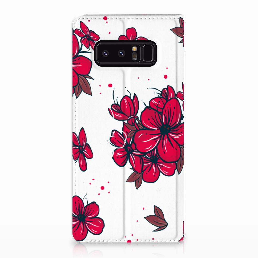 Samsung Galaxy Note 8 Standcase Hoesje Design Blossom Red