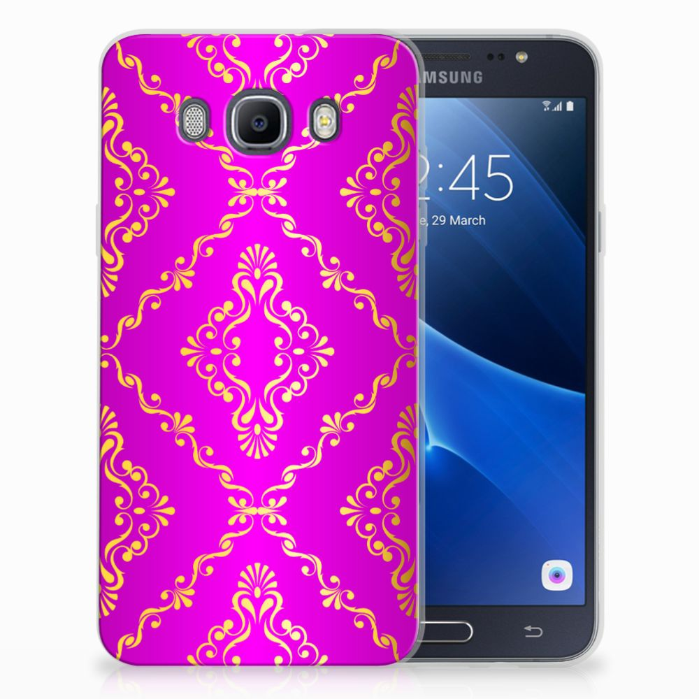 Siliconen Hoesje Samsung Galaxy J7 2016 Barok Roze