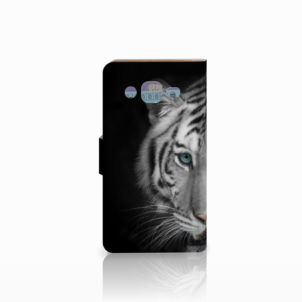 Samsung Galaxy J2 (2015) Telefoonhoesje met Pasjes Tijger