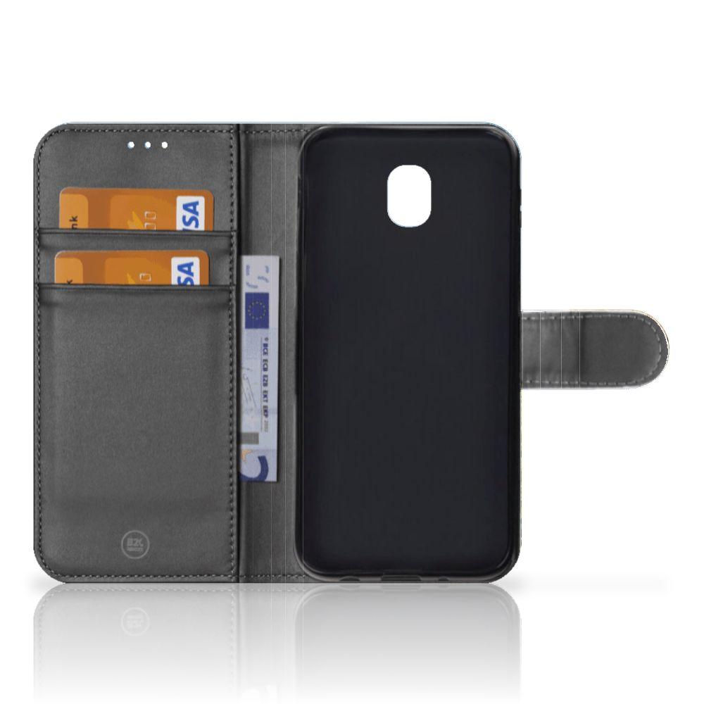 Samsung Galaxy J5 2017 Telefoonhoesje met Pasjes Schaap en Lammetje