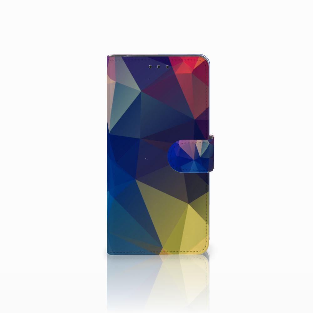 Samsung Galaxy J6 Plus (2018) Uniek Boekhoesje Polygon Dark