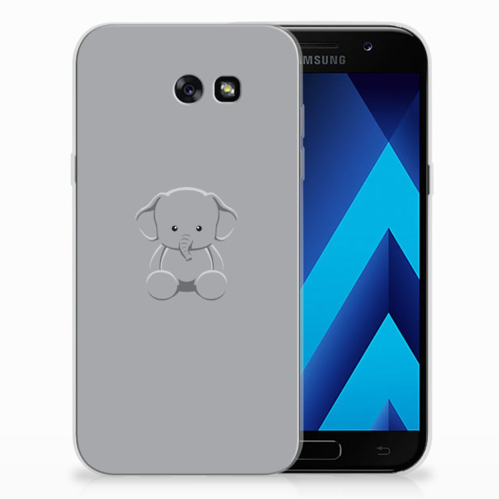 Samsung Galaxy A7 2017 Uniek TPU Hoesje Baby Olifant