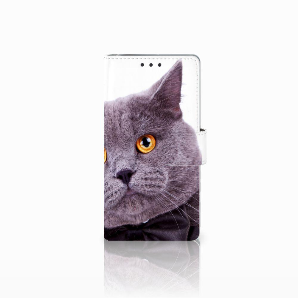 Sony Xperia X Performance Telefoonhoesje met Pasjes Kat