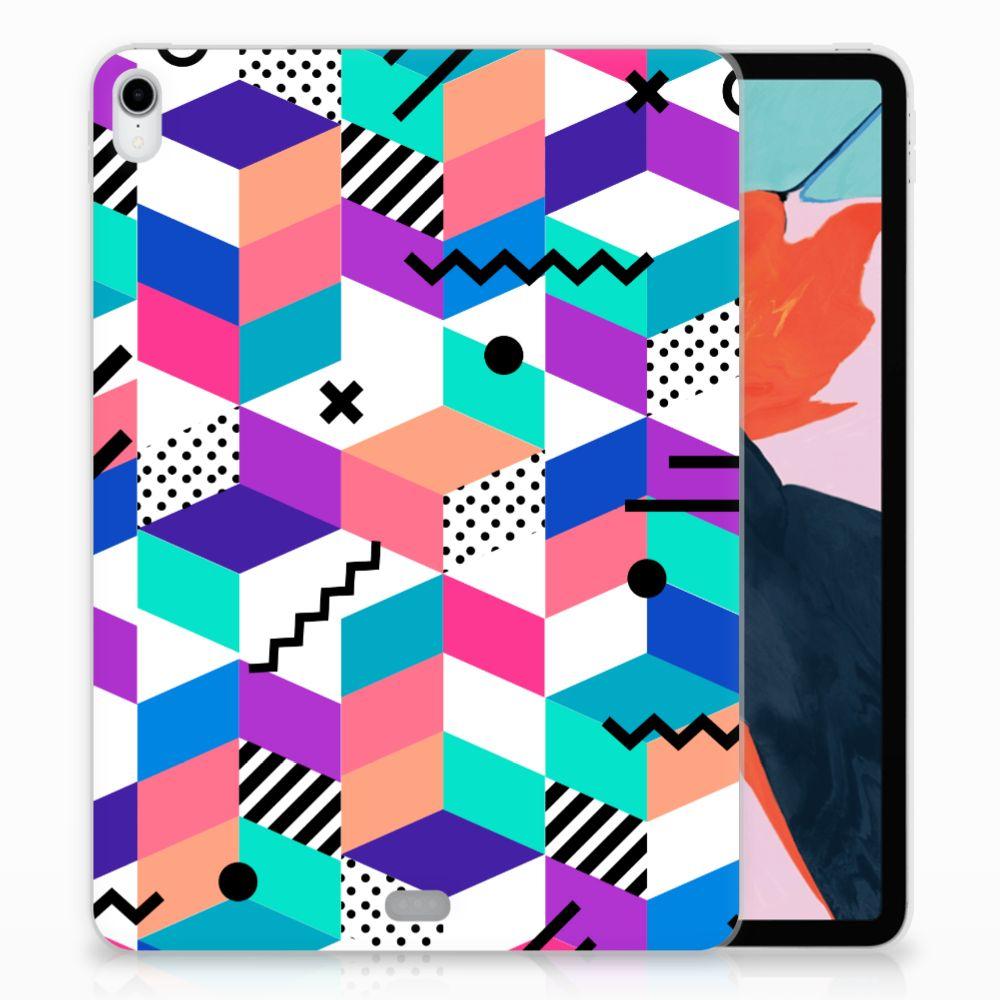 Apple iPad Pro 11 inch (2018) TPU Hoesje Blokken Kleurrijk