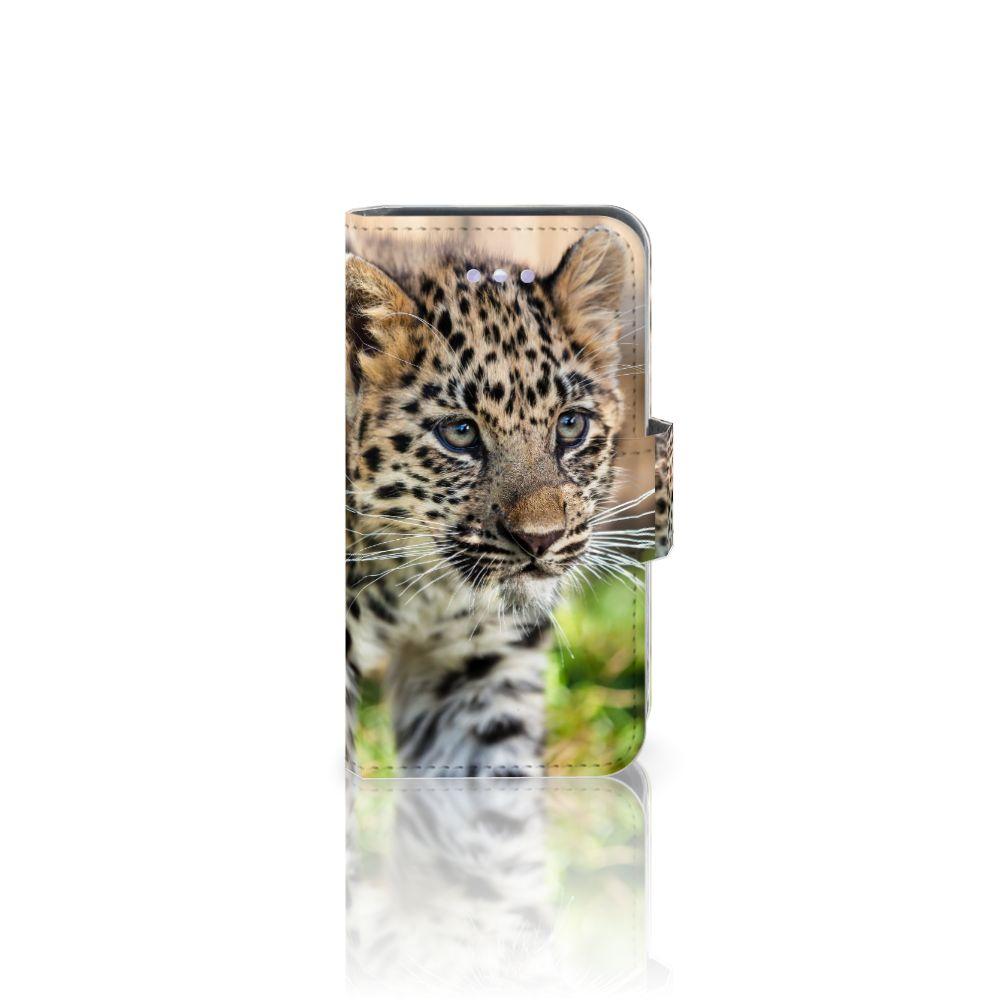 Apple iPhone 4 | 4S Uniek Boekhoesje Baby Luipaard