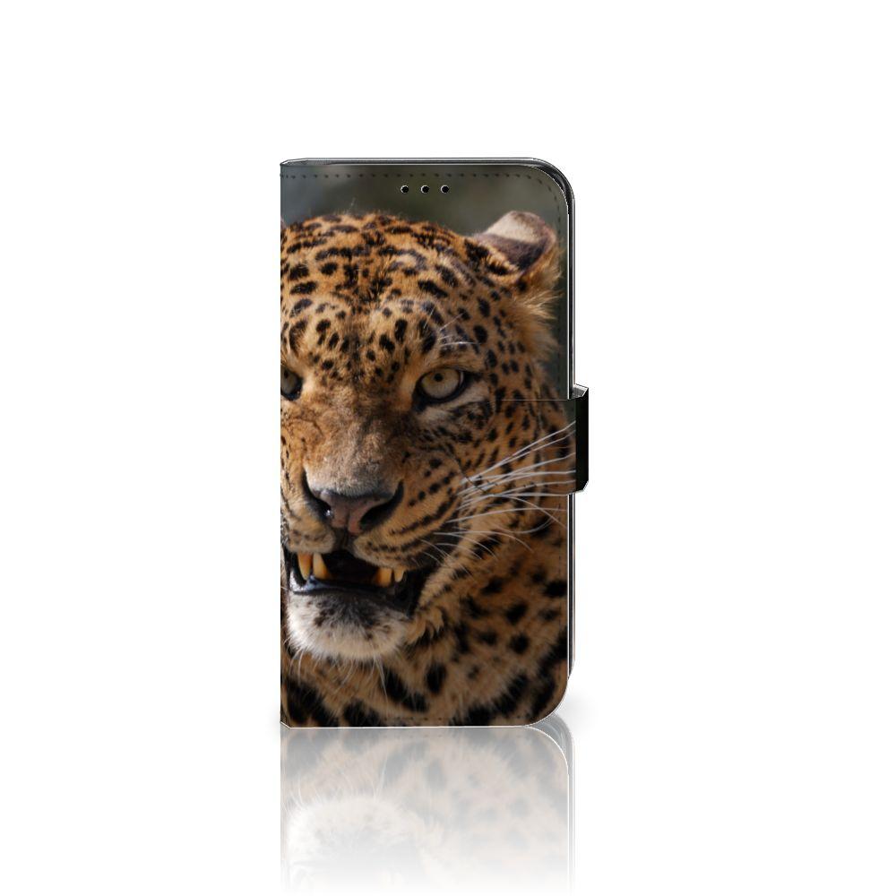 Samsung Galaxy S7 Edge Telefoonhoesje met Pasjes Luipaard