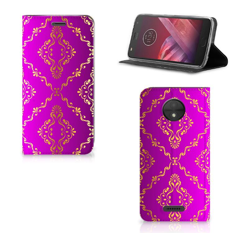 Telefoon Hoesje Motorola Moto C Barok Roze
