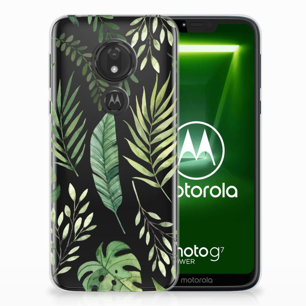 Motorola Moto G7 Power Uniek TPU Hoesje Leaves