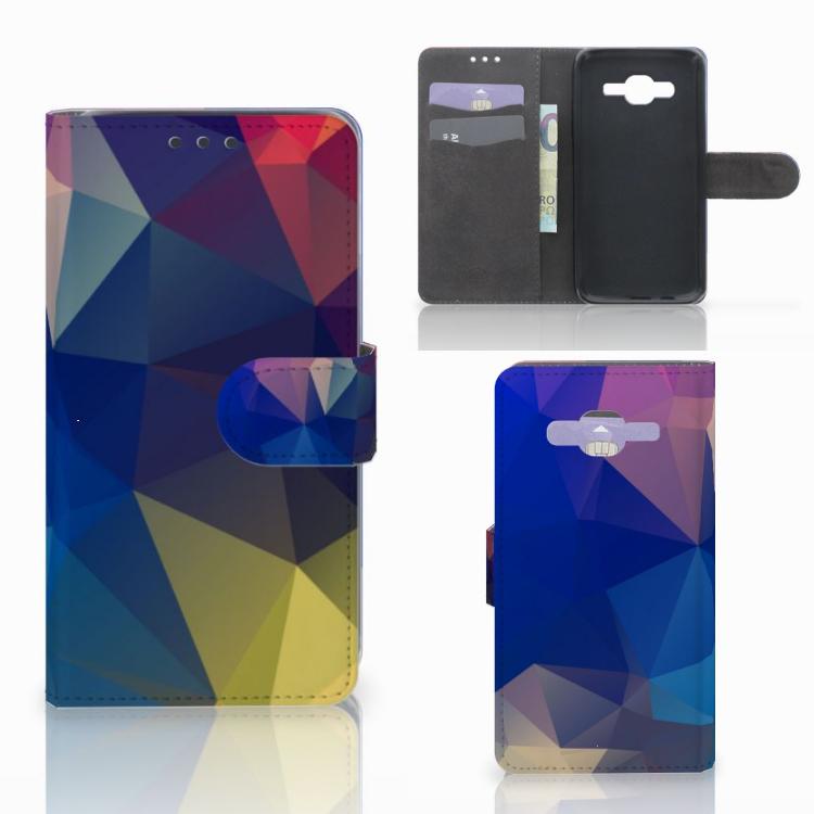 Samsung Galaxy J5 (2015) Bookcase Polygon Dark