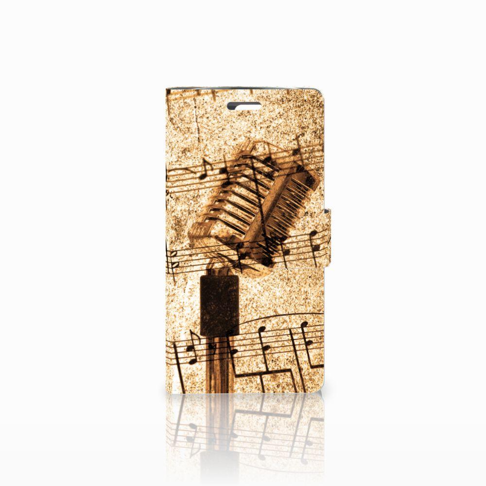 LG K10 2015 Uniek Boekhoesje Bladmuziek