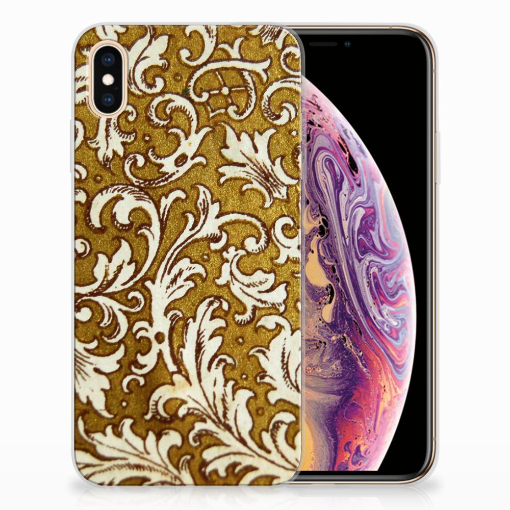 Apple iPhone Xs Max TPU Hoesje Design Barok Goud