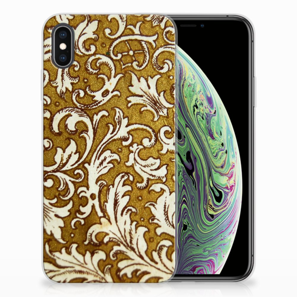 Siliconen Hoesje Apple iPhone Xs Max Barok Goud