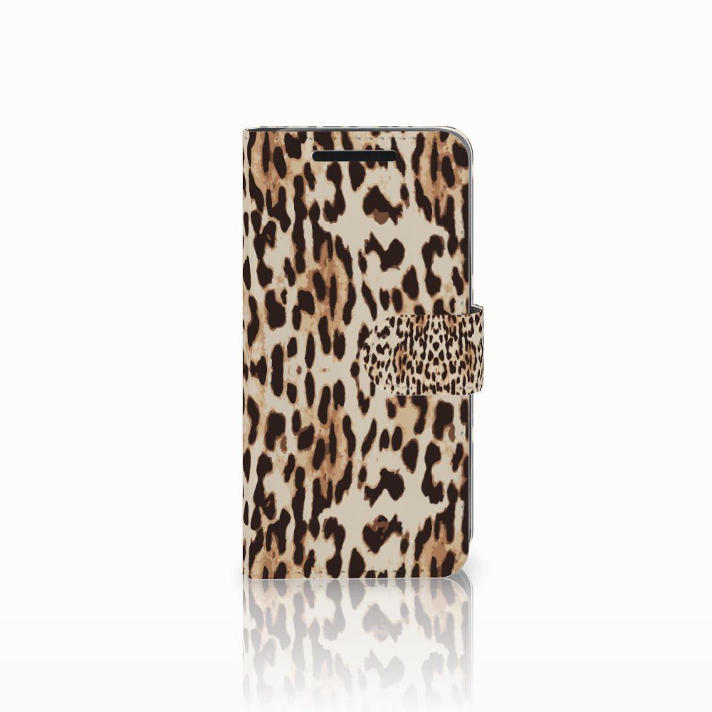 HTC One M9 Uniek Boekhoesje Leopard
