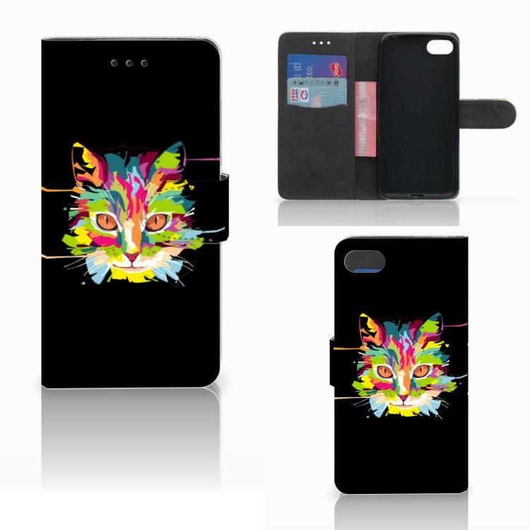 Huawei Y5 2018 Leuk Hoesje Cat Color