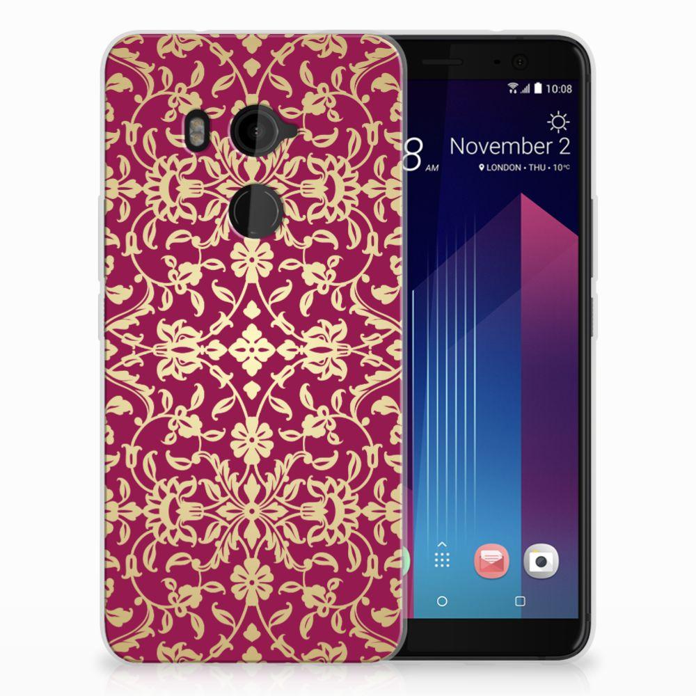 HTC U11 Plus TPU Hoesje Design Barok Pink