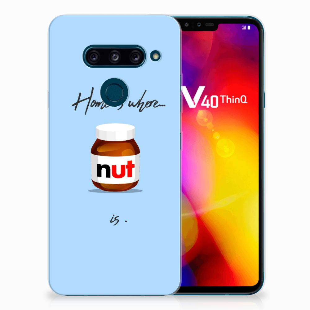 LG V40 Thinq Siliconen Case Nut Home