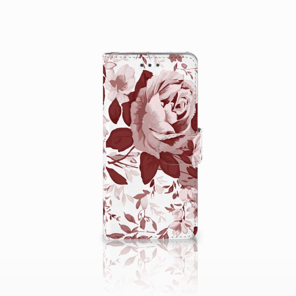 Wiko Lenny 2 Uniek Boekhoesje Watercolor Flowers