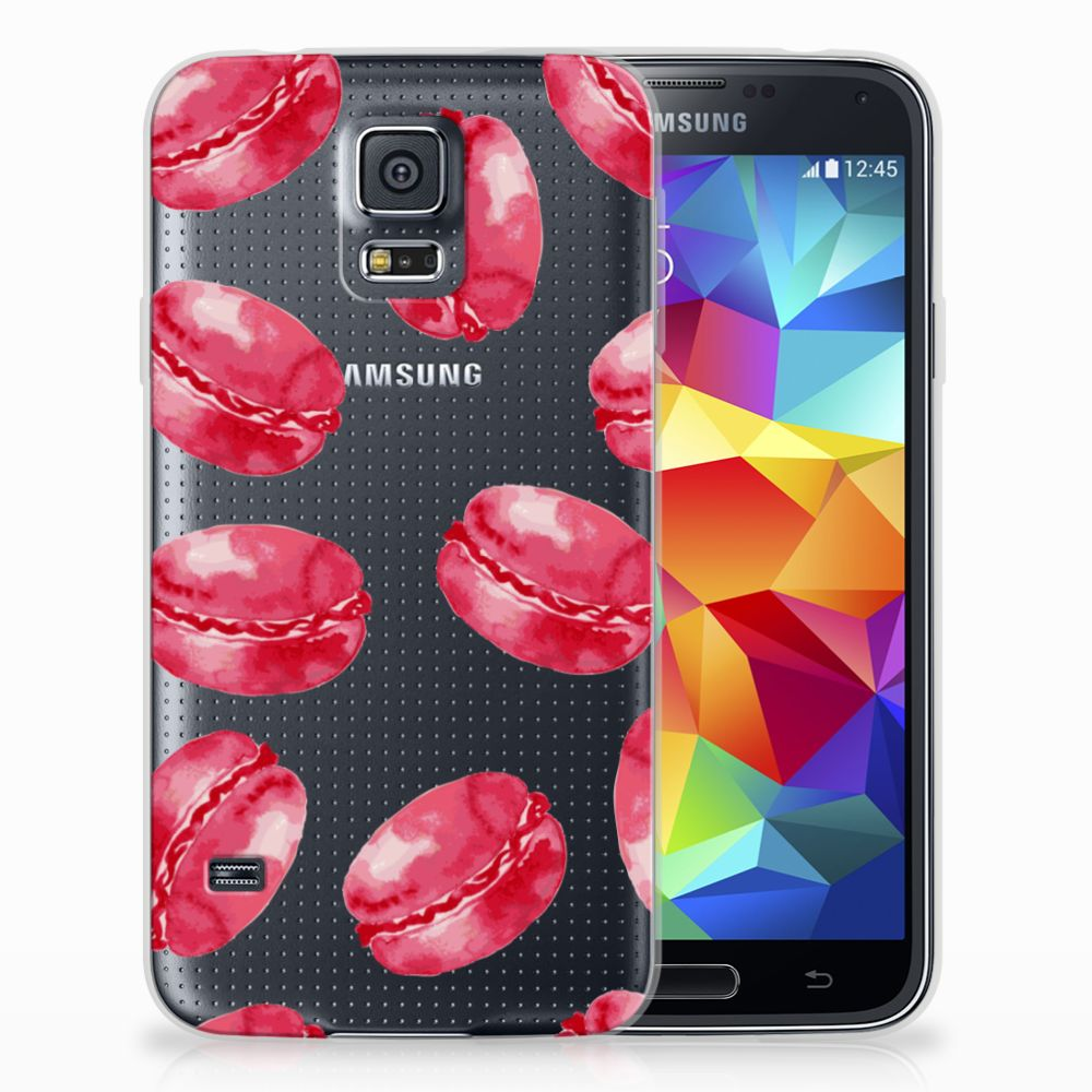 Samsung Galaxy S5 Siliconen Case Pink Macarons
