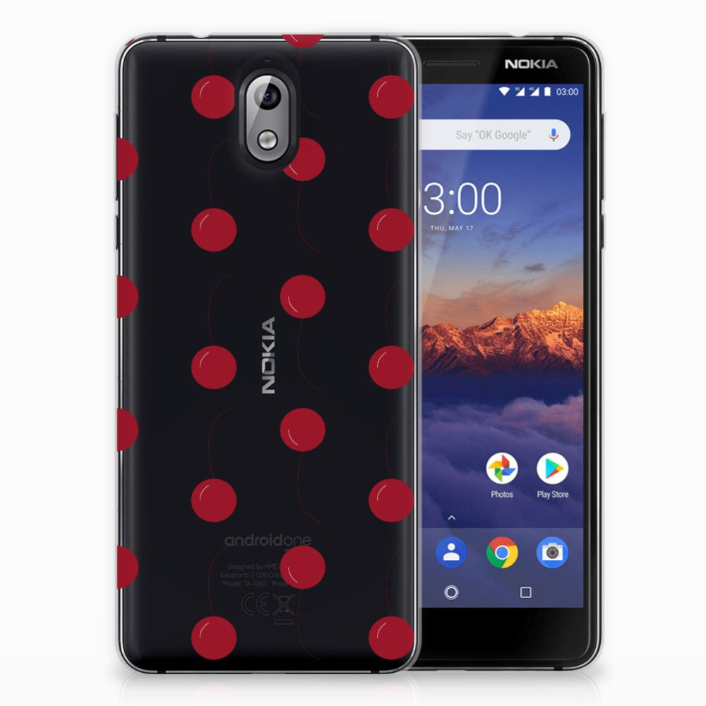 Nokia 3.1 (2018) Siliconen Case Cherries