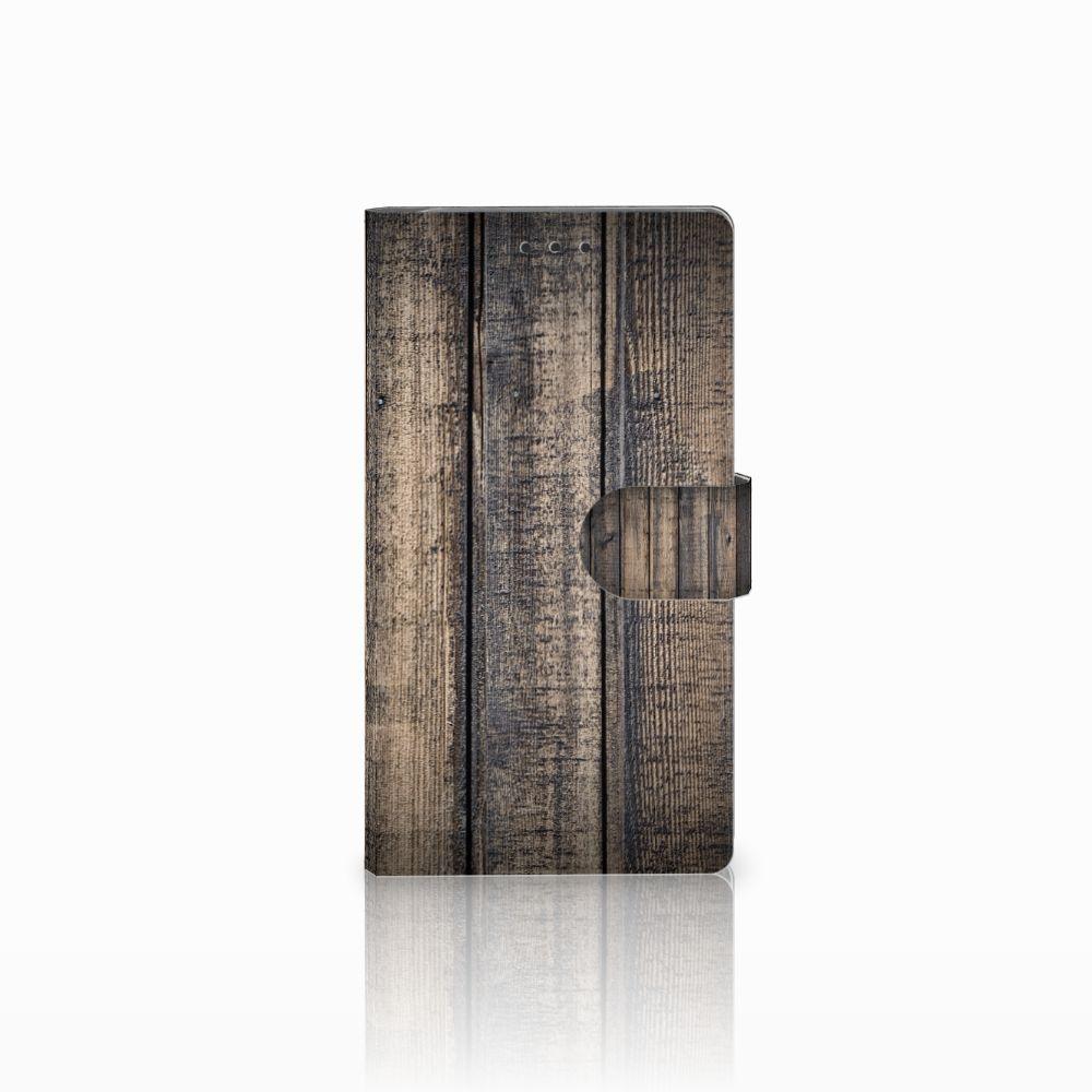 Samsung Galaxy Note 3 Boekhoesje Design Steigerhout