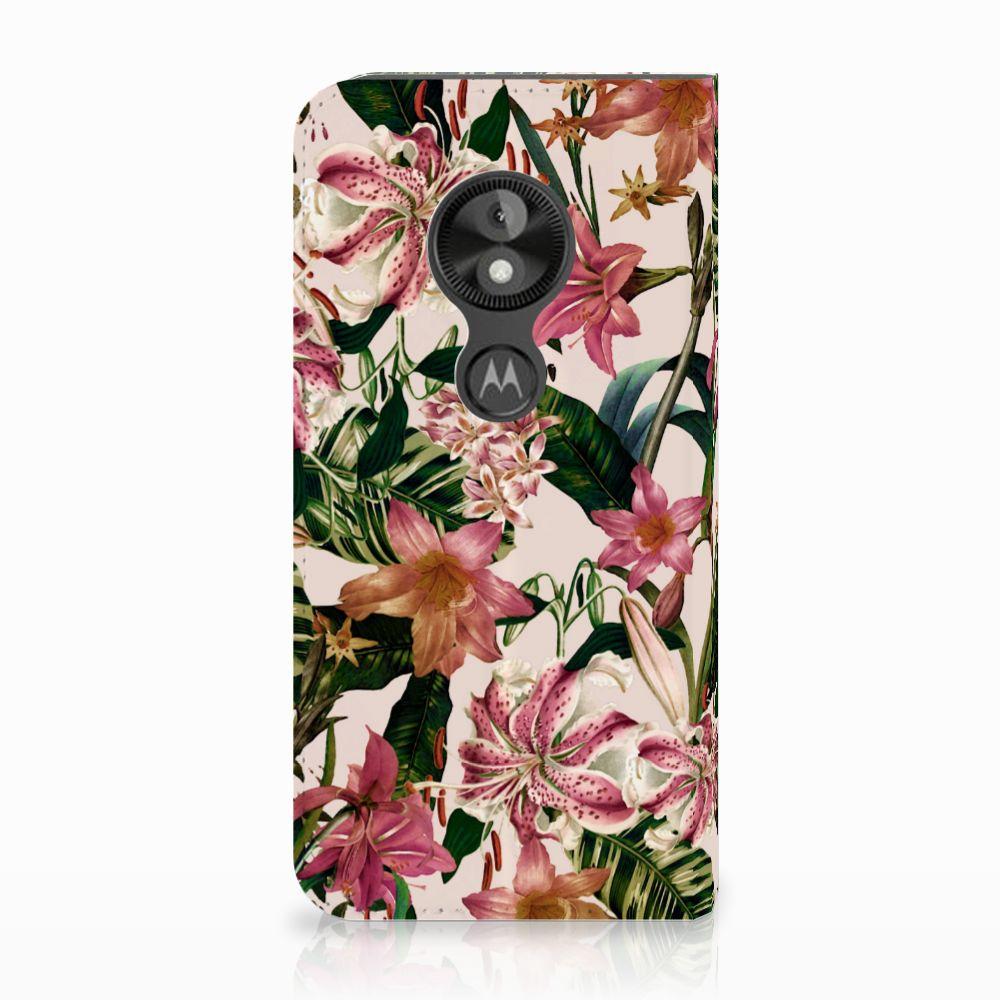 Motorola Moto E5 Play Uniek Standcase Hoesje Flowers