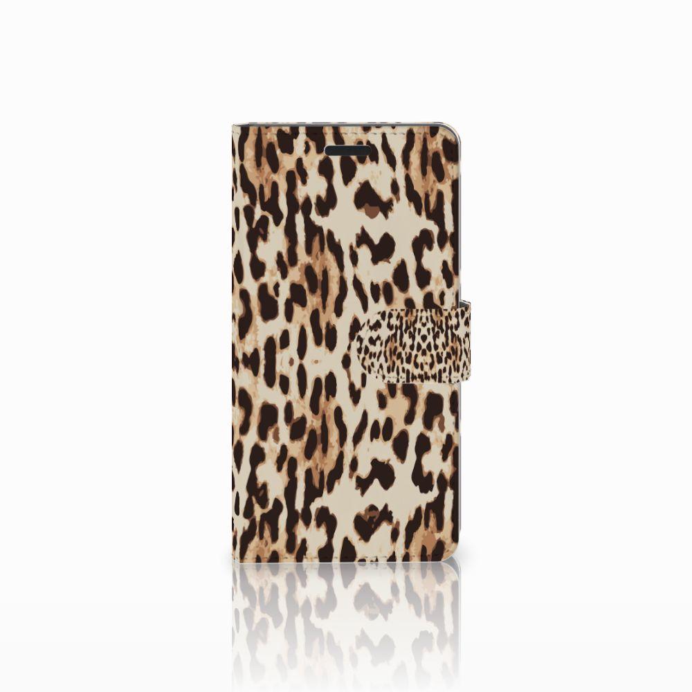 Samsung Galaxy A7 2015 Uniek Boekhoesje Leopard