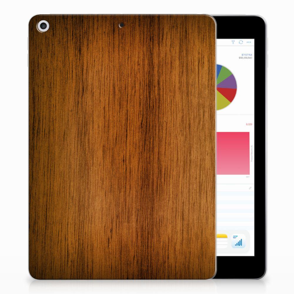 Apple iPad 9.7 2018 | 2017 Uniek Tablethoesje Donker Hout