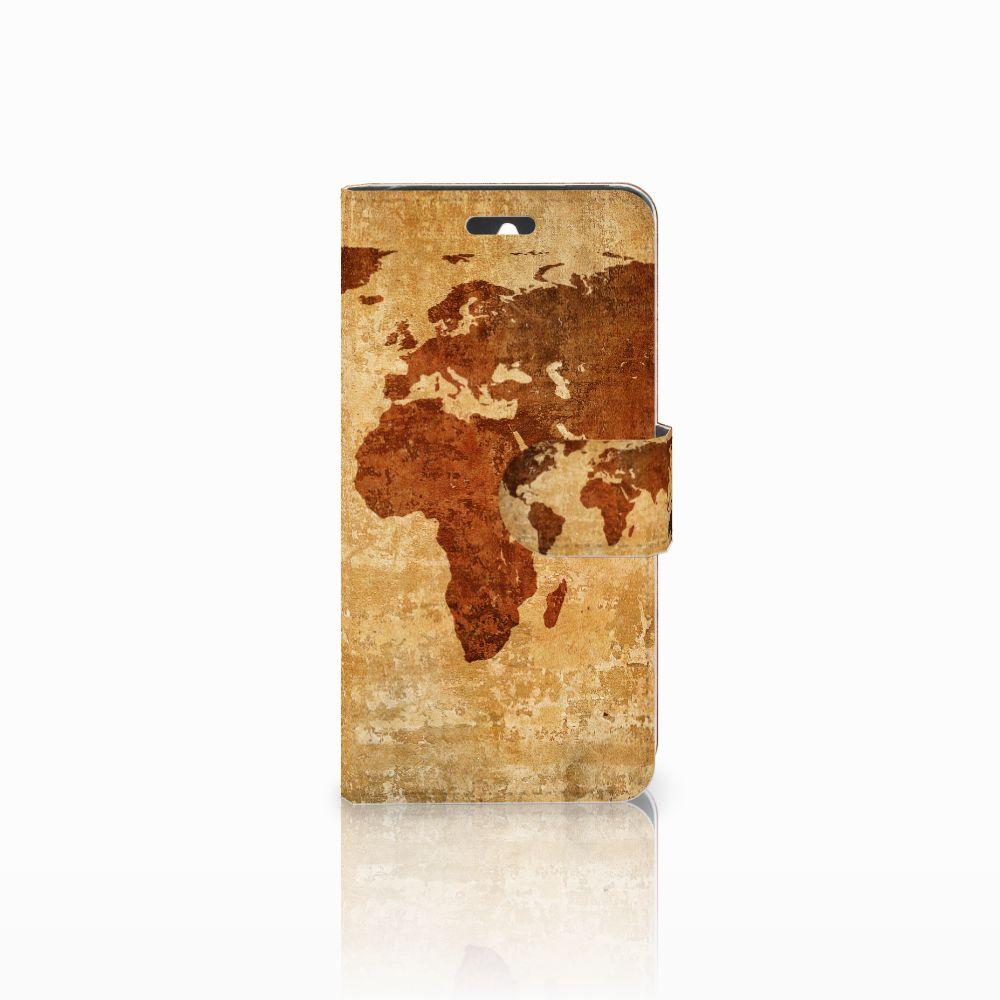 Huawei Ascend Y550 Flip Cover Wereldkaart