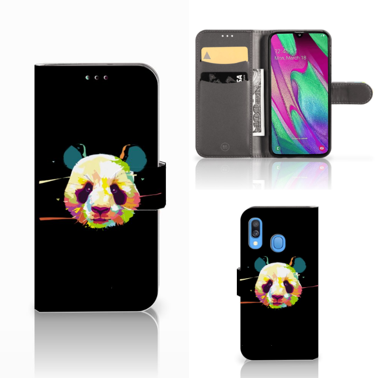 Samsung Galaxy A40 Leuke Hoesje Panda Color