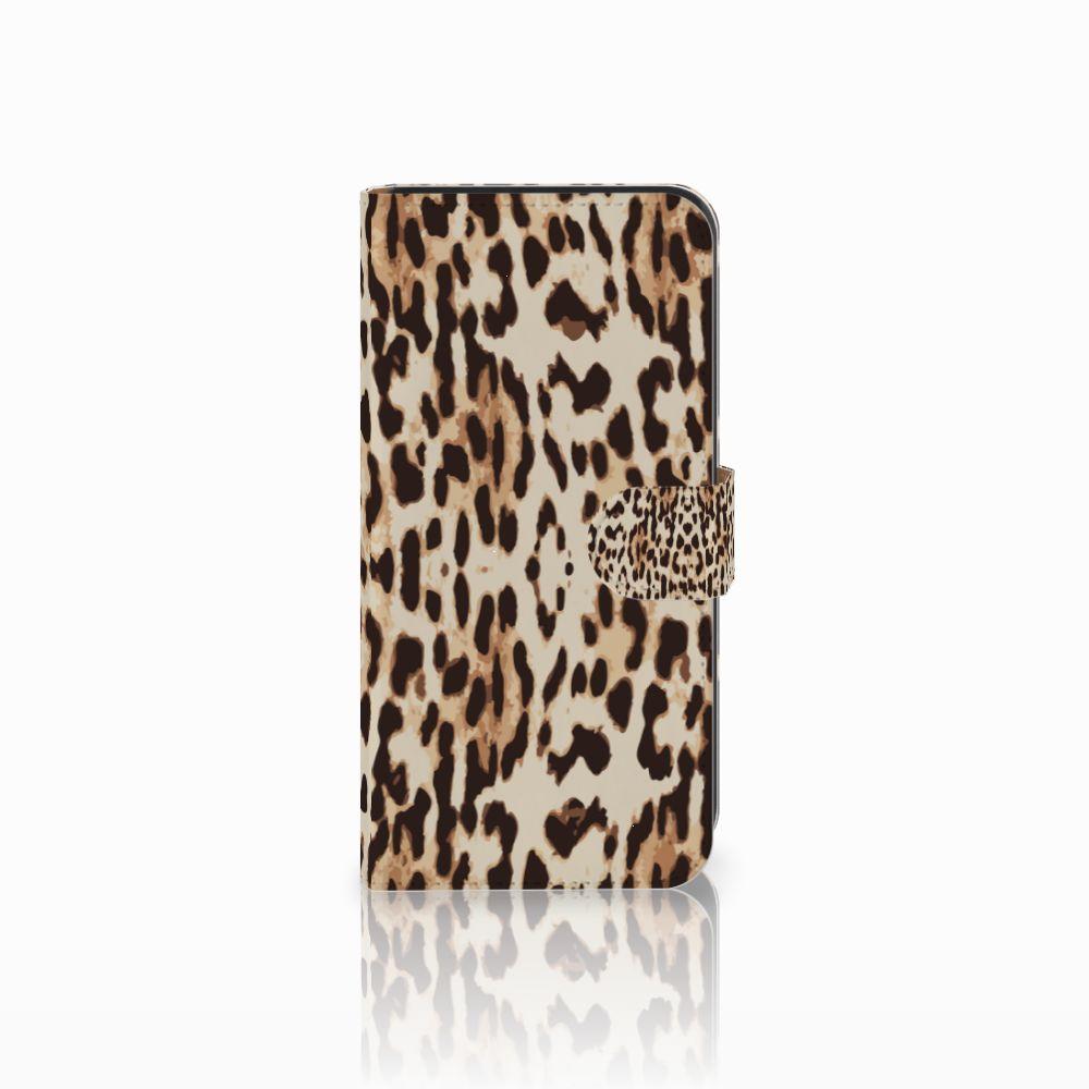 Samsung Galaxy E7 Uniek Boekhoesje Leopard