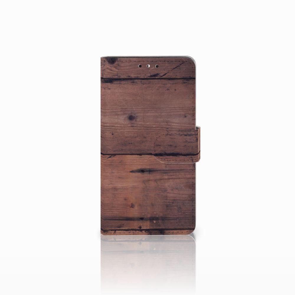 Huawei Y5 | Y6 2017 Uniek Boekhoesje Old Wood