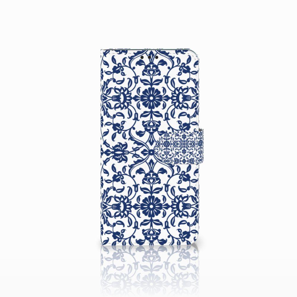 Huawei P Smart Plus Boekhoesje Flower Blue