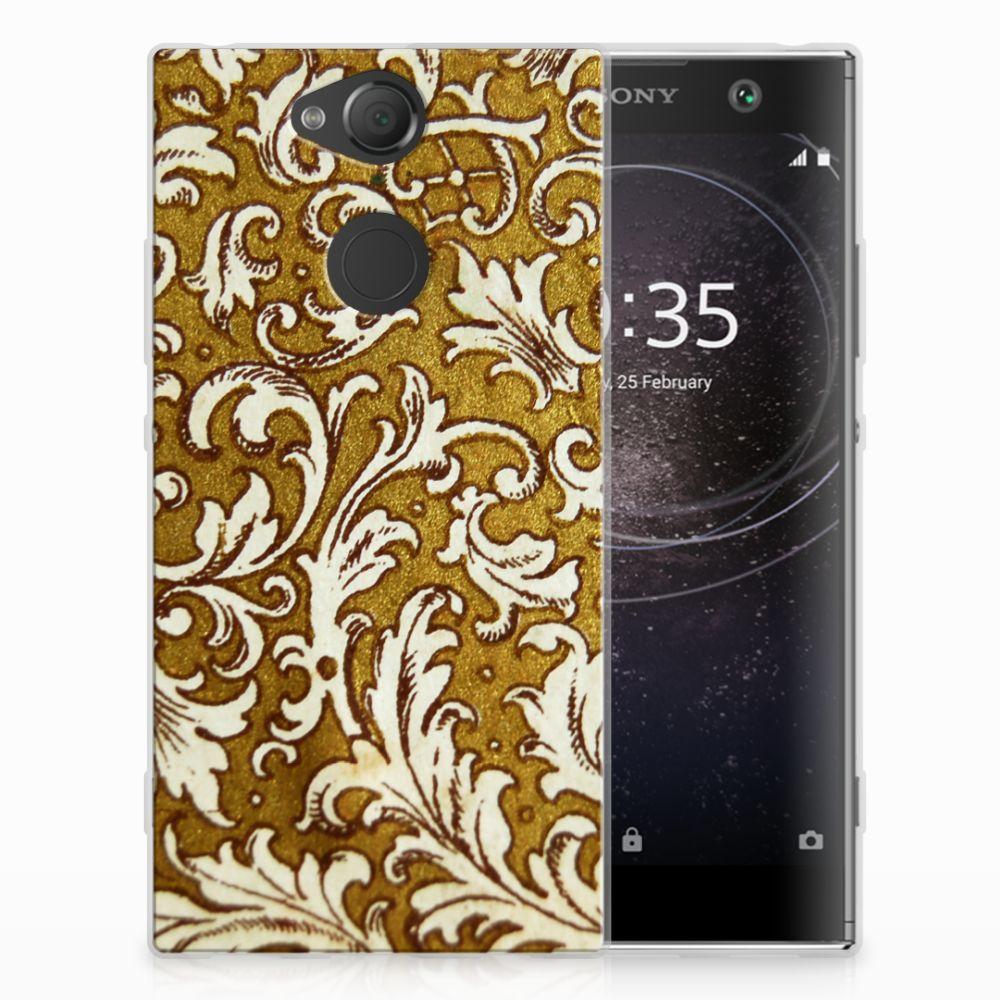 Sony Xperia XA2 TPU Hoesje Design Barok Goud