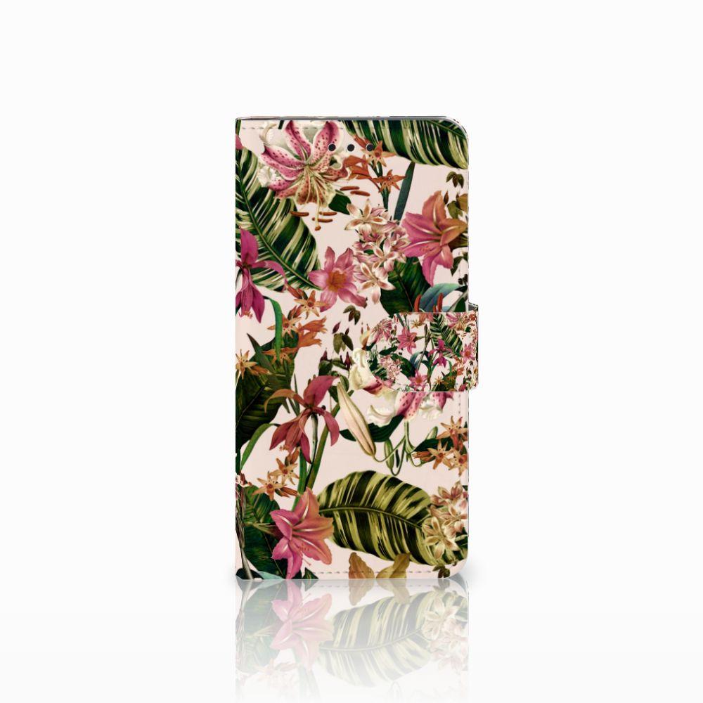 Motorola Moto G6 Uniek Boekhoesje Flowers