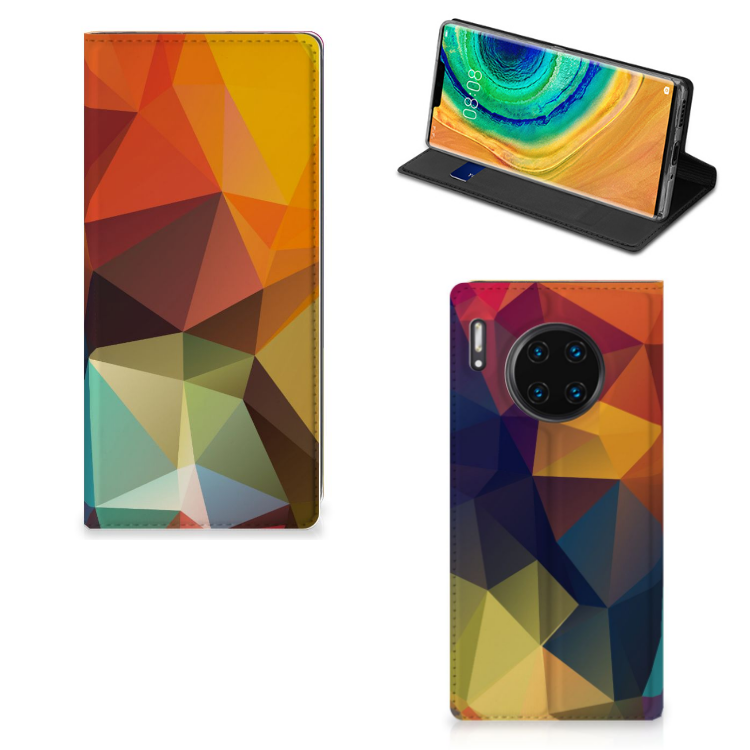 Huawei Mate 30 Pro Stand Case Polygon Color