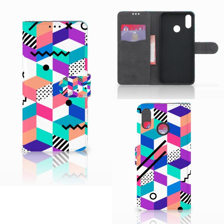 Huawei P Smart Plus Bookcase Blokken Kleurrijk