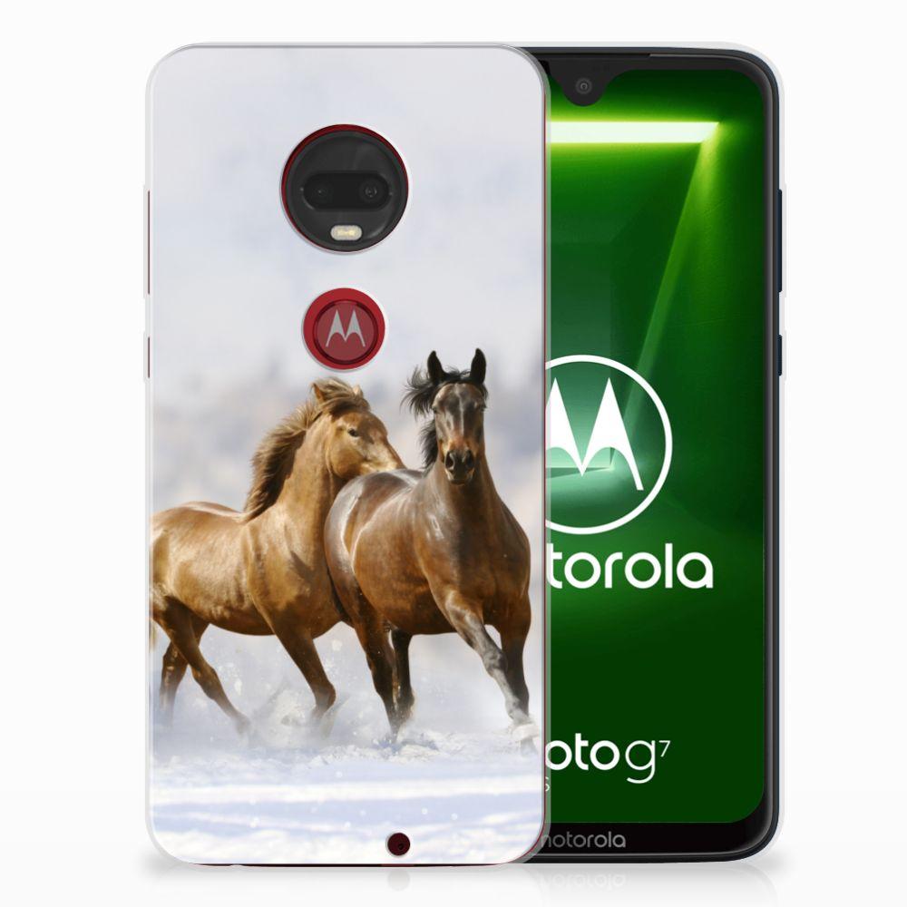 Motorola Moto G7 | G7 Plus TPU Hoesje Paarden