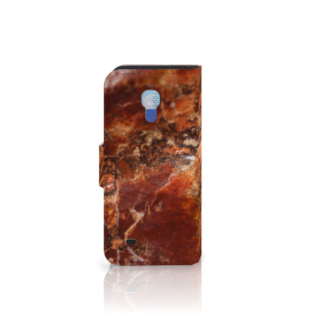 Samsung Galaxy S4 Mini i9190 Bookcase Marmer Bruin