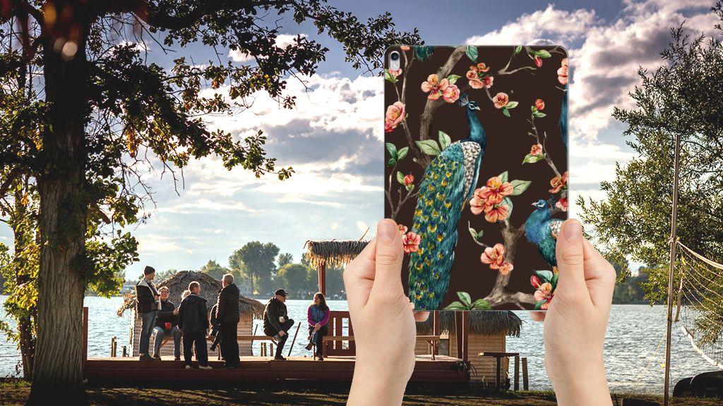 Apple iPad Pro 10.5 Back Case Pauw met Bloemen