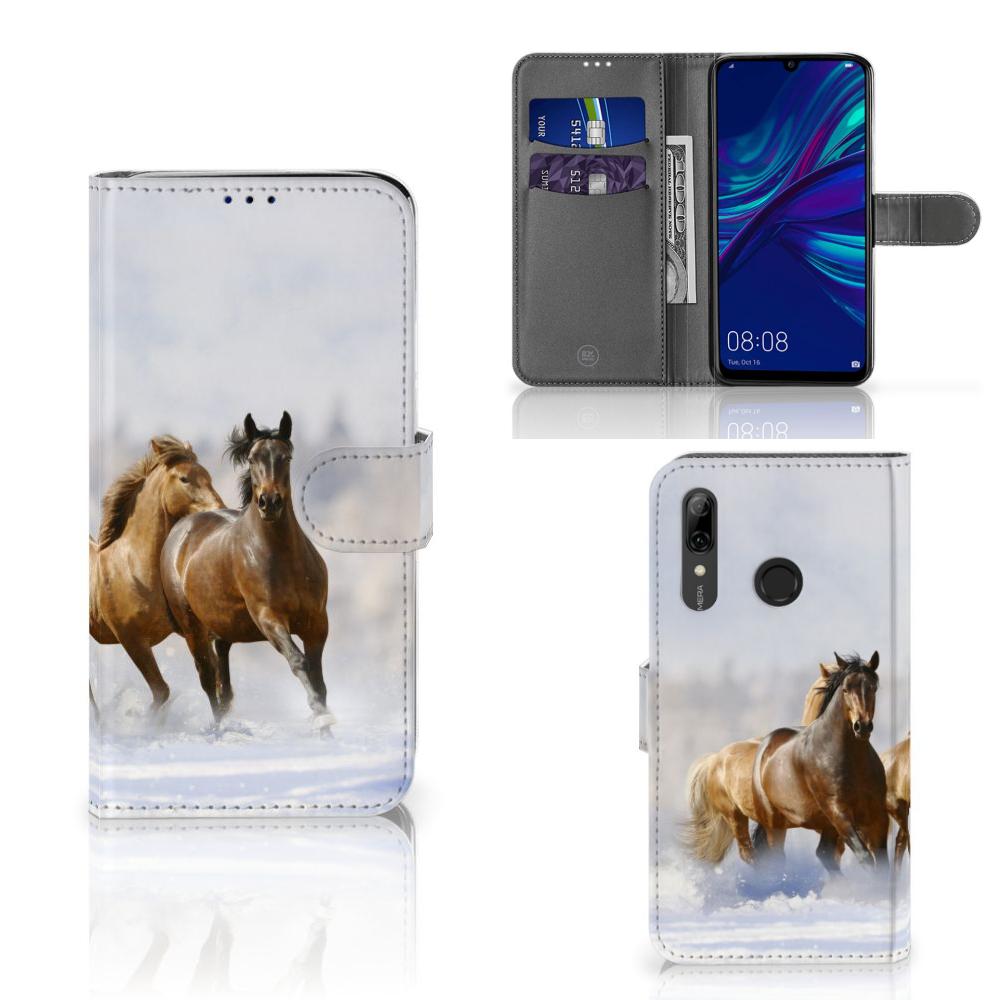 Huawei P Smart Plus (2019) Telefoonhoesje met Pasjes Paarden