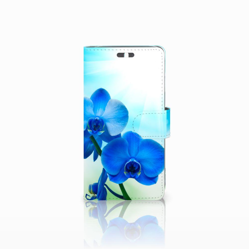 Huawei Y625 Boekhoesje Design Orchidee Blauw