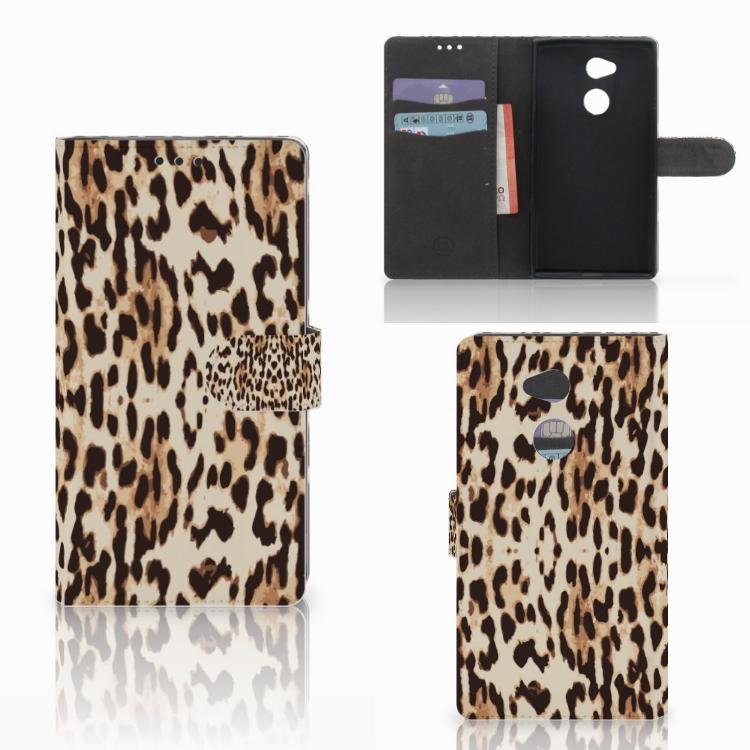 Sony Xperia XA2 Ultra Telefoonhoesje met Pasjes Leopard