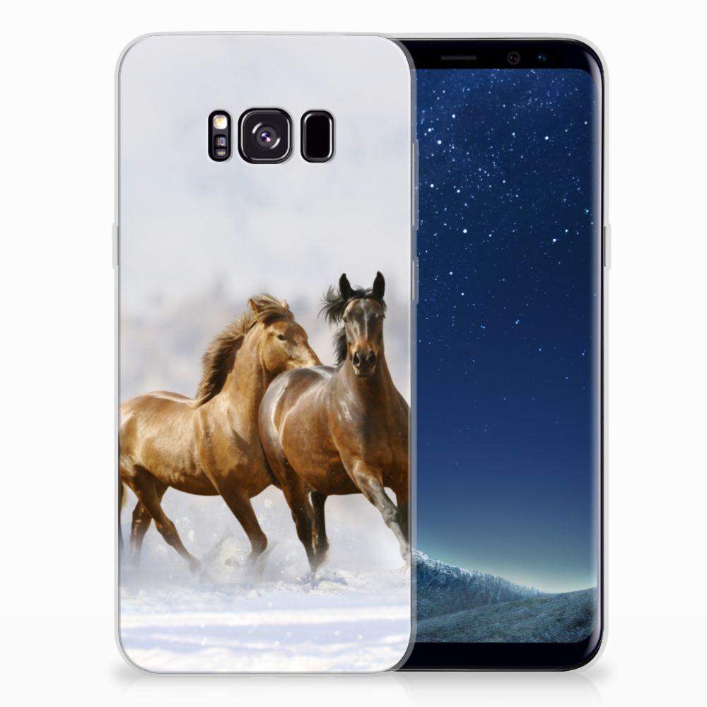 Samsung Galaxy S8 Plus TPU Hoesje Paarden