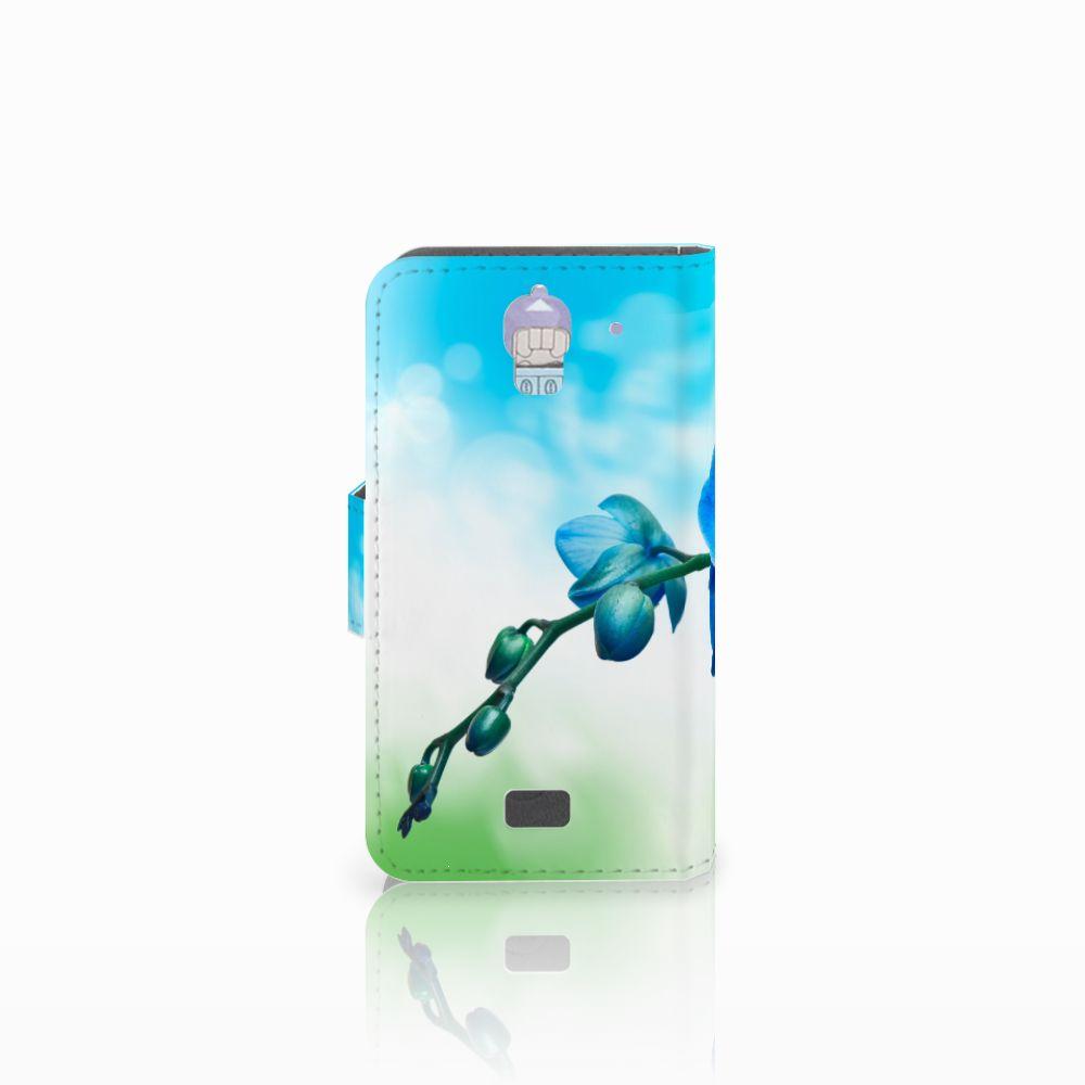 Huawei Y360 Hoesje Orchidee Blauw