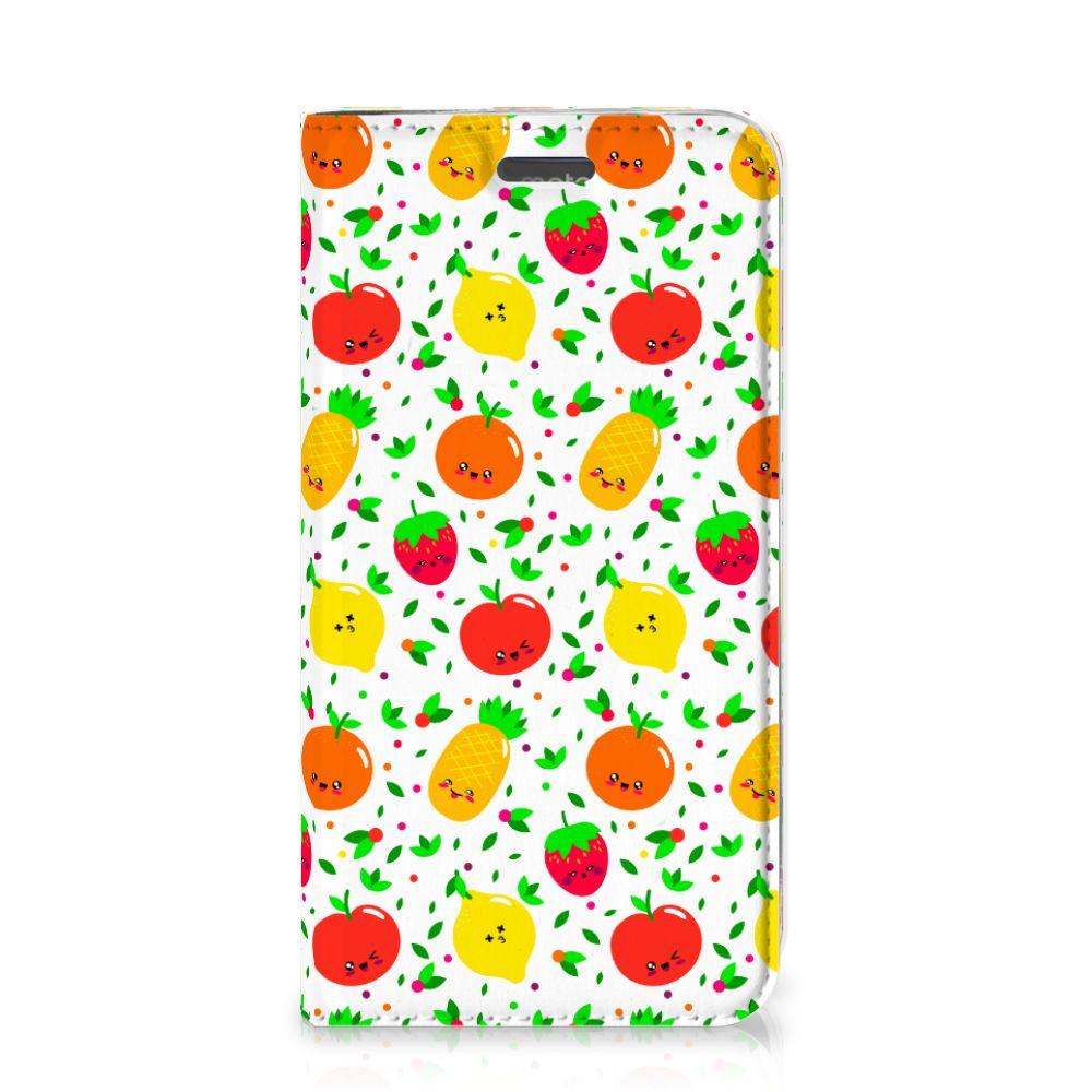 Motorola Moto C Plus Flip Style Cover Fruits