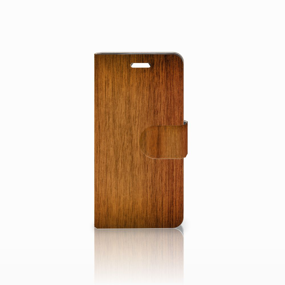 Acer Liquid Z330 Book Style Case Donker Hout