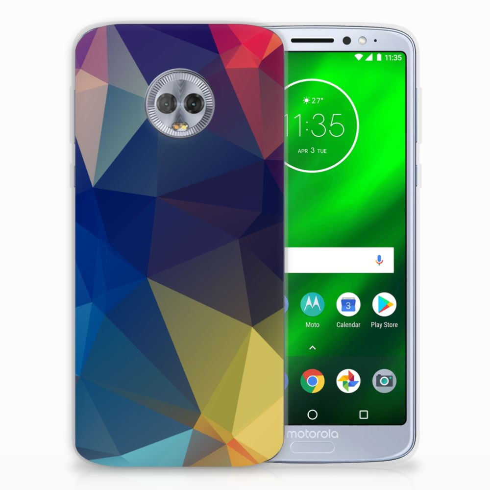 Motorola Moto G6 Plus TPU Hoesje Polygon Dark