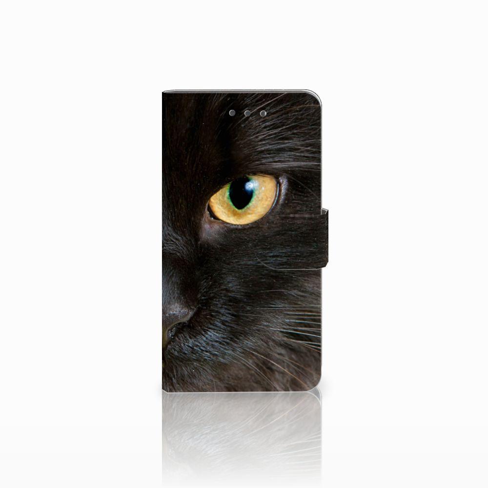 Wiko Fever (4G) Uniek Boekhoesje Zwarte Kat