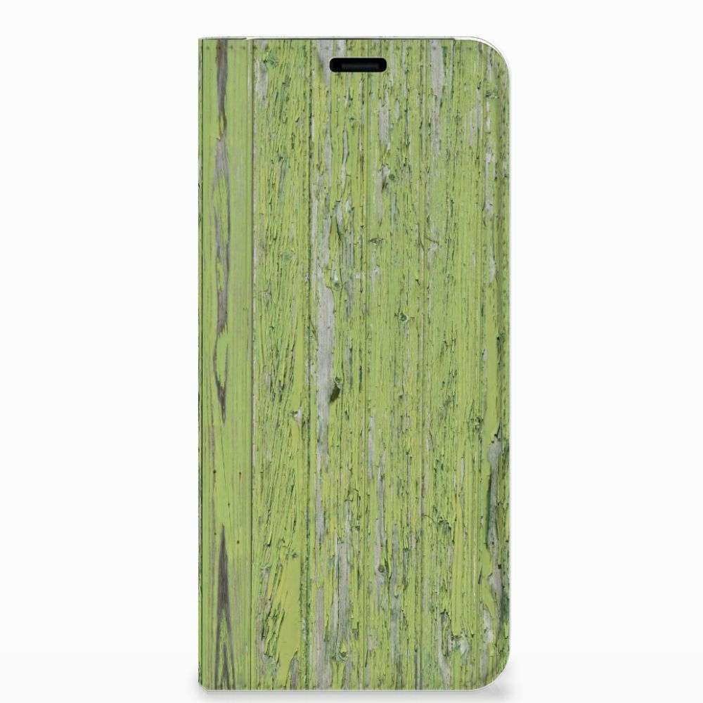 Samsung Galaxy S8 Plus Book Wallet Case Green Wood